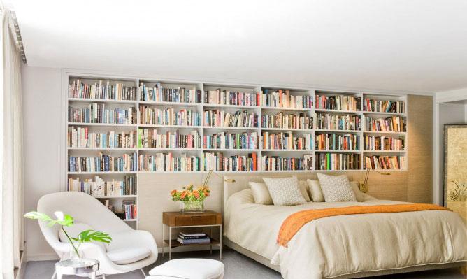 contemporary bedroom 1 6 کتابخانه ها در دکوراسیون منزل