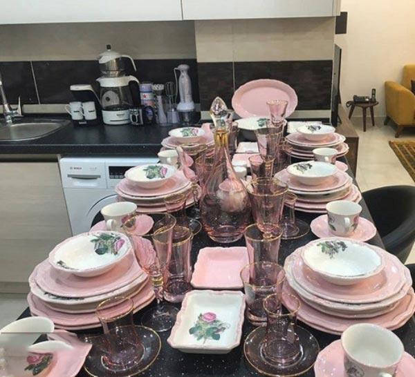 Bridal kitchen layout6 چیدمان و تزیین آشپزخانه جهیزیه عروس