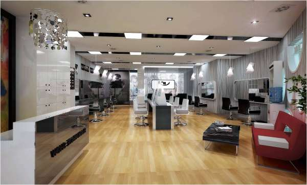 hairdressers decoration4 دکوراسیون آرایشگاه مردانه