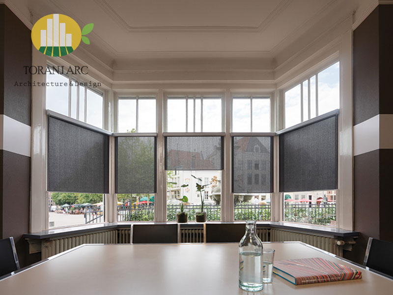 roll shade blinds 1 پرده شید رول