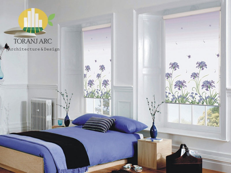 roll shade blinds 2 پرده شید رول