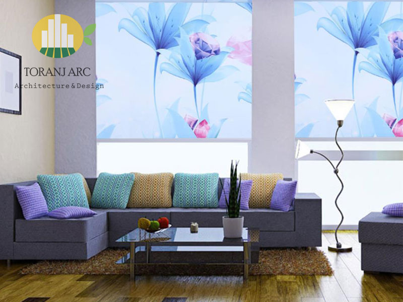 roll shade blinds 3 پرده شید رول