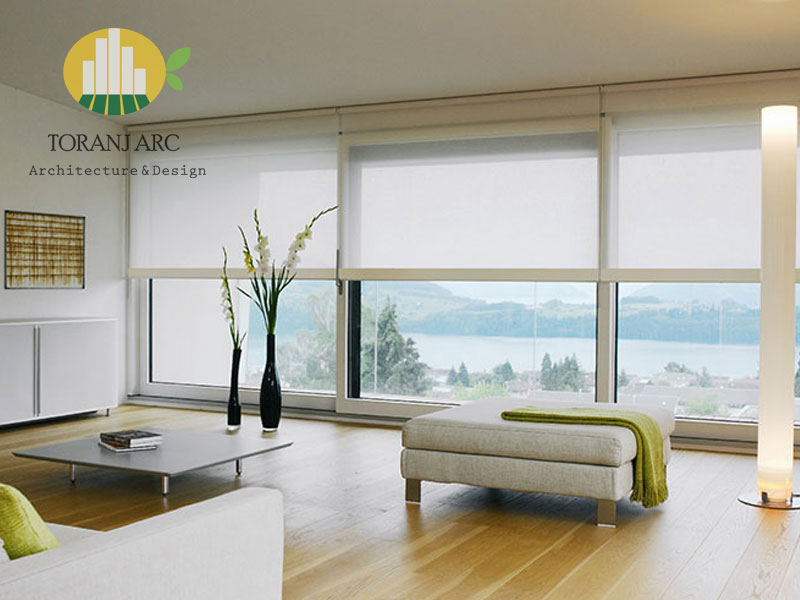roll shade blinds 6 پرده شید رول