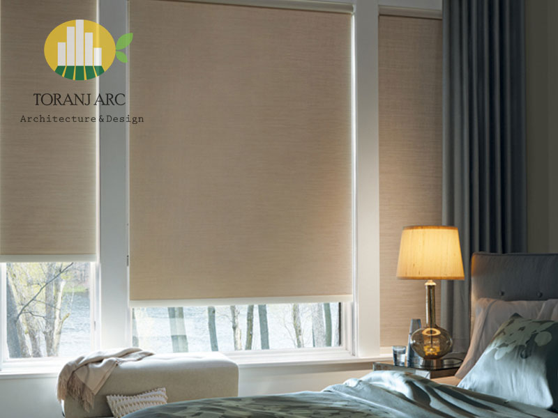 roll shade blinds 8 پرده شید رول