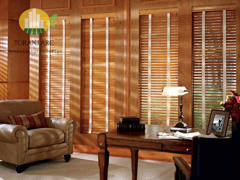 wooden jalousie curtain 3 پرده کرکره چوبی