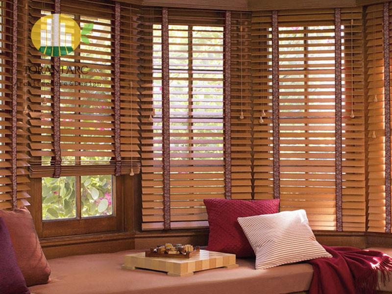 wooden jalousie curtain 4 پرده کرکره چوبی