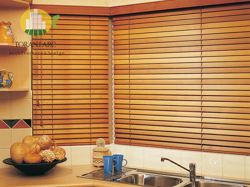 wooden jalousie curtain 5 پرده کرکره چوبی
