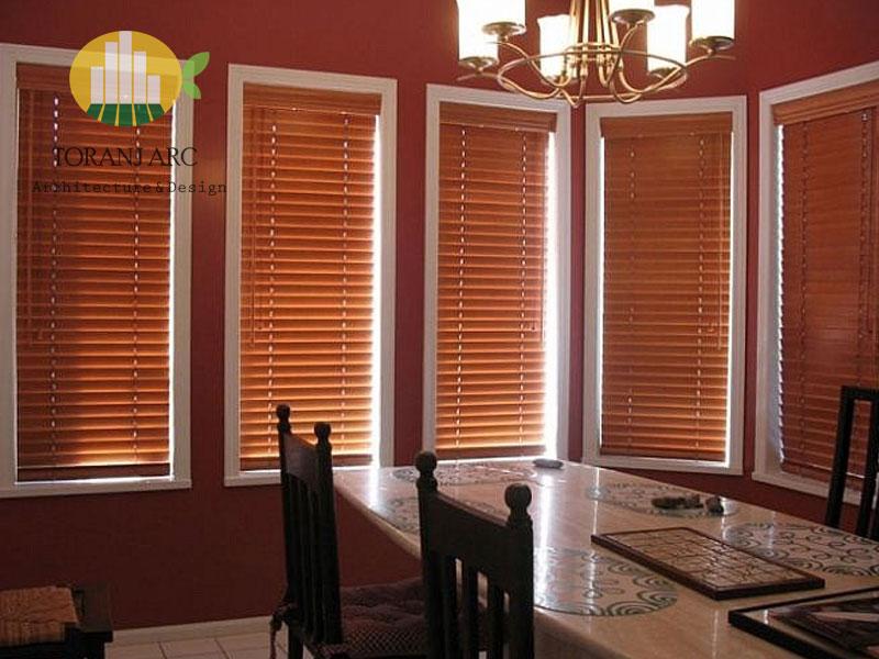 wooden jalousie curtain 6 پرده کرکره چوبی