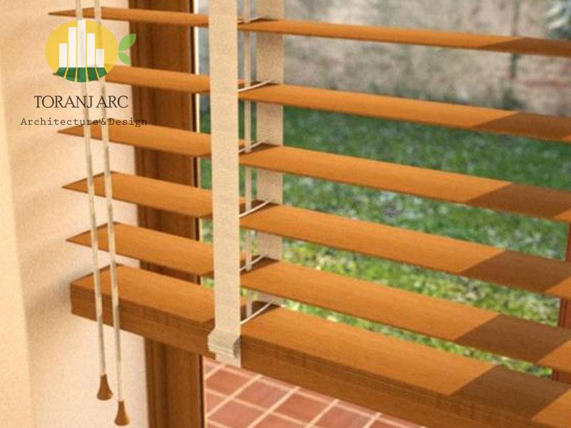 wooden jalousie curtain 7 پرده کرکره چوبی