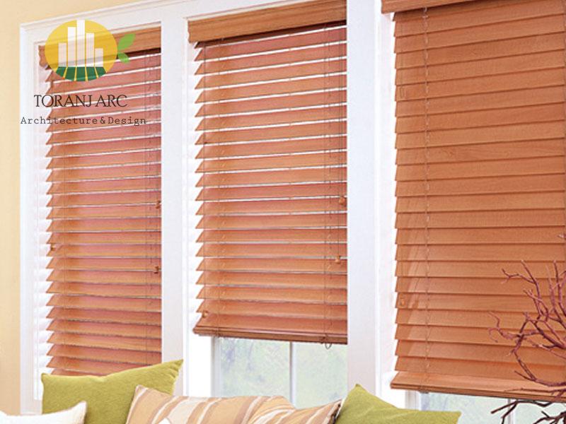 wooden jalousie curtain 8 پرده کرکره چوبی
