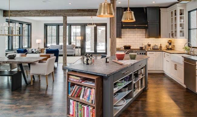 dad1bcc701293a7c 9718 w800 h535 b0 p0 rustic kitchen 0 کتابخانه ها در دکوراسیون منزل