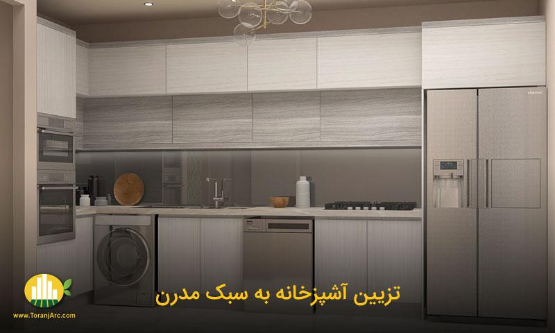 modern kitchen 01 تزیین آشپزخانه به سبک مدرن
