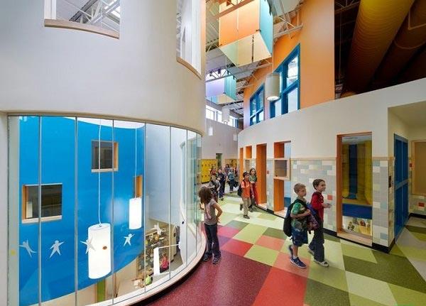 school picture3 نگاهی تازه به طراحی داخلی مدرسه