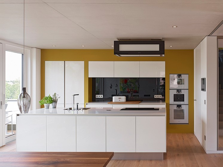 Kitchen Color Mustard by AMP Architekten کابینت ساز در تهران