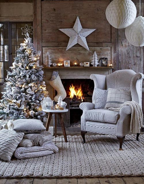 christmas fireplace decorating ideas 13 6 ایده برای دکوراسیون گرم فصول سرد