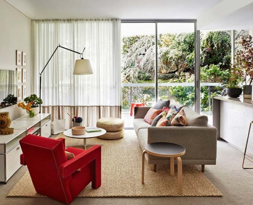 apartment living furniture 495x400 مقالات دکوراسیون