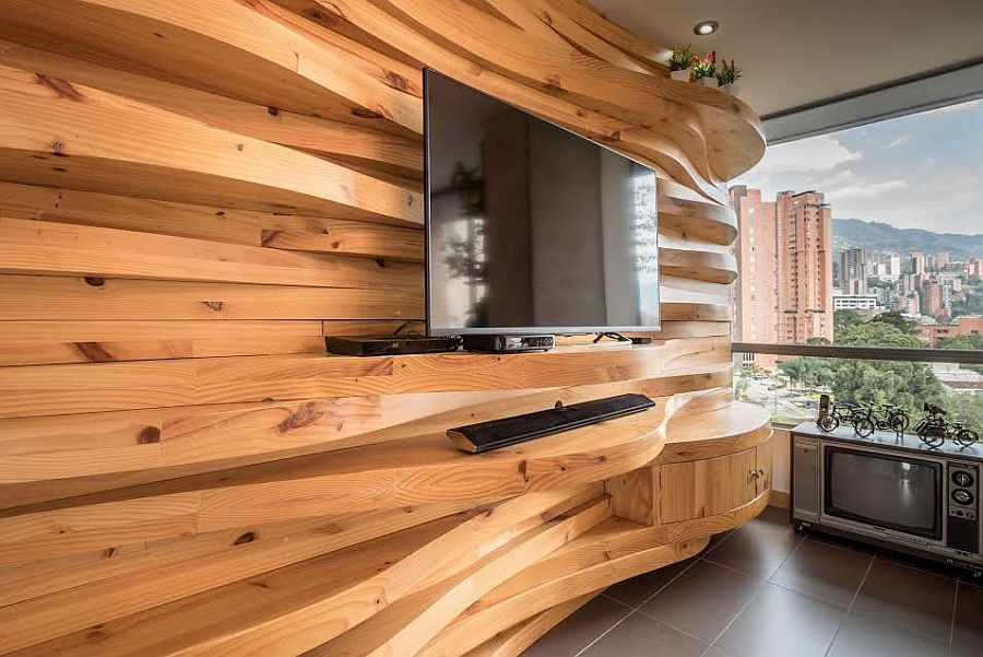 wood wall panels 2 دیوارکوب چیست و چه انواعی دارد؟