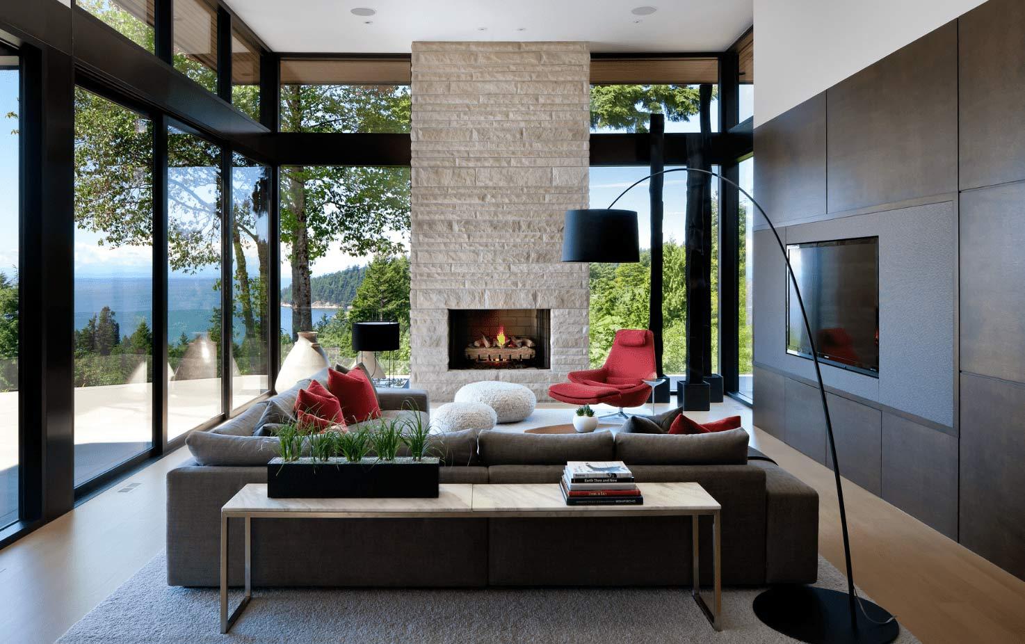 living room مدرن ترین طراحی دکوراسیون داخلی در سال 2021