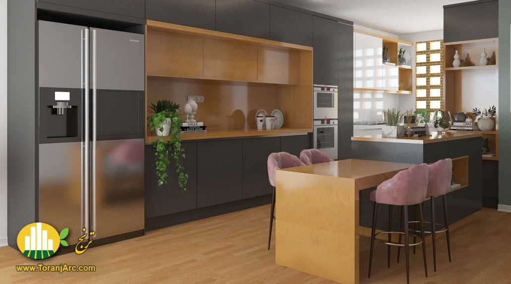 modrn cabinet2 1030x574 طراحی کابینت مدرن آشپزخانه