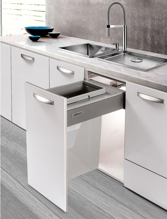 trash bin 2 طراحی کابینت مدرن آشپزخانه