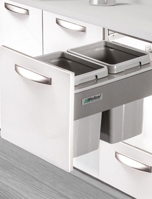 trash bin1 طراحی کابینت مدرن آشپزخانه
