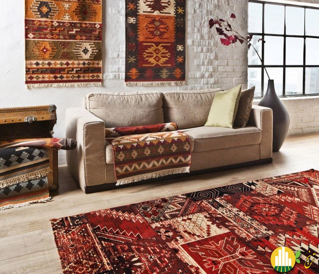 50 4 نقش فرش در دکوراسیون منزل