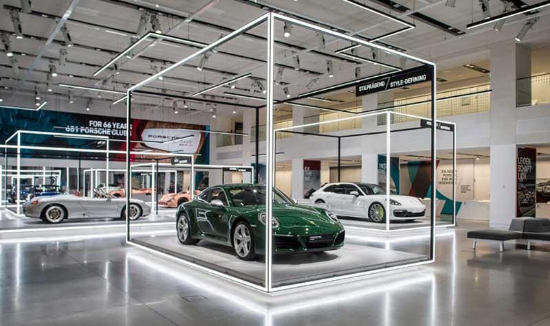 car showroom دکوراسیون نمایشگاه