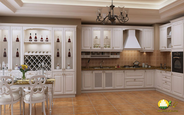 white membrane خرید کابینت آشپزخانه