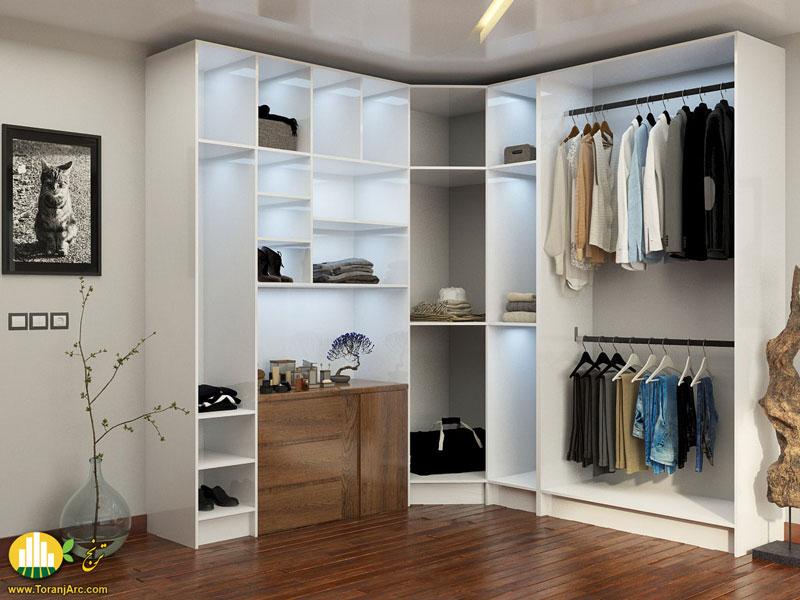 white closet 01 کمد دیواری