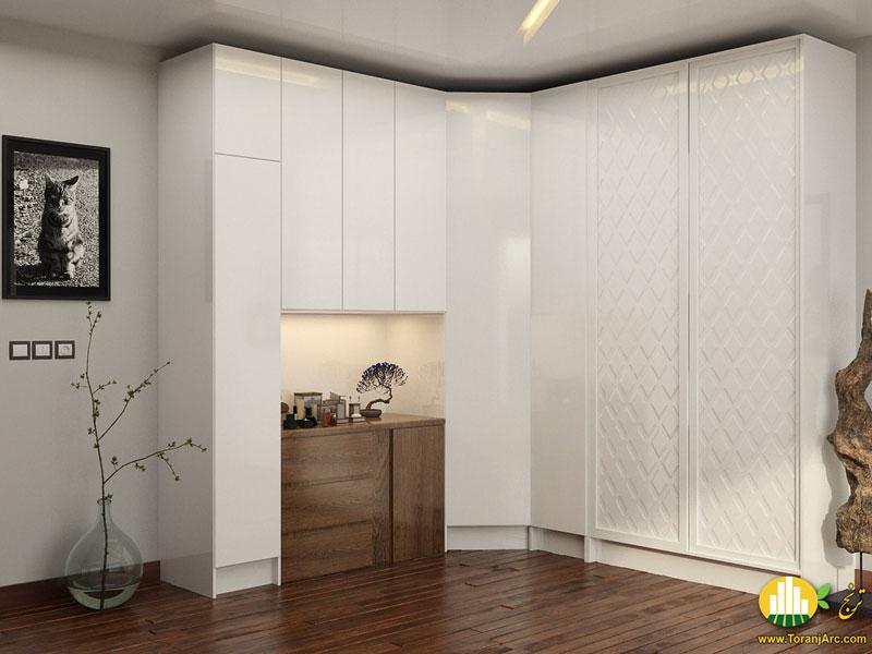 white closet 02 کمد دیواری
