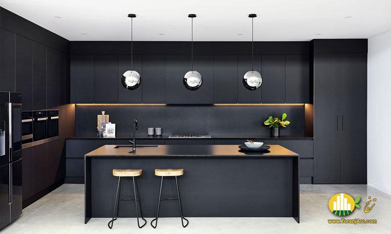 black cabinet 02 کابینت مشکی مدرن
