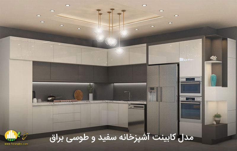 modern white and gray cabinets 02 کابینت مدرن سفید و طوسی