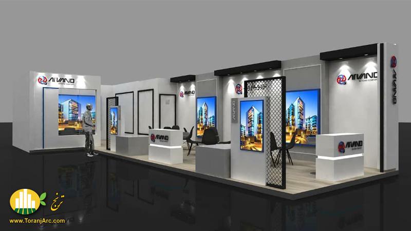 طراحی سه بعدی غرفه نمایشگاهی شرکت تهویه اروند