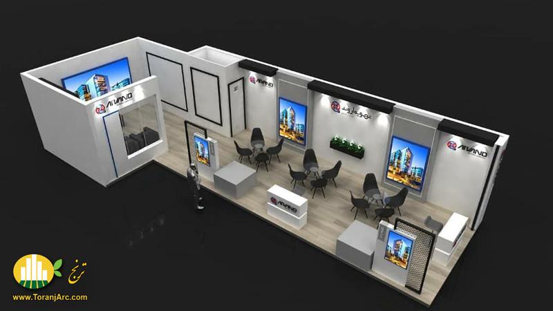 طراحی غرفه نمایشگاهی شرکت تهویه اروند
