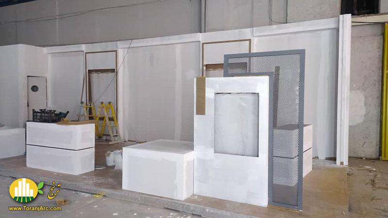 زمان ساخت غرفه نمایشگاهی شرکت تهویه اوند