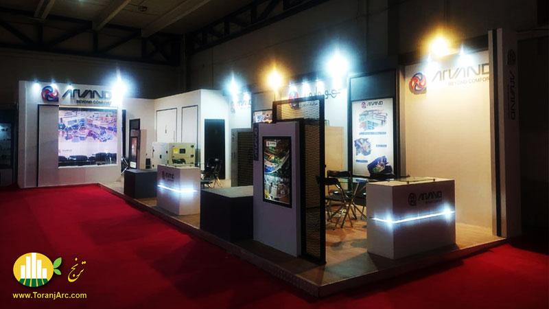 طراحی و ساخت غرفه نمایشگاهی شرکت تهویه اروند