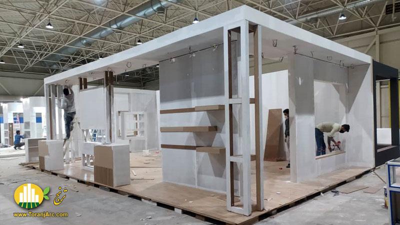 زمان ساخت غرفه نمایشگاهی شرکت پادنا پلیمر