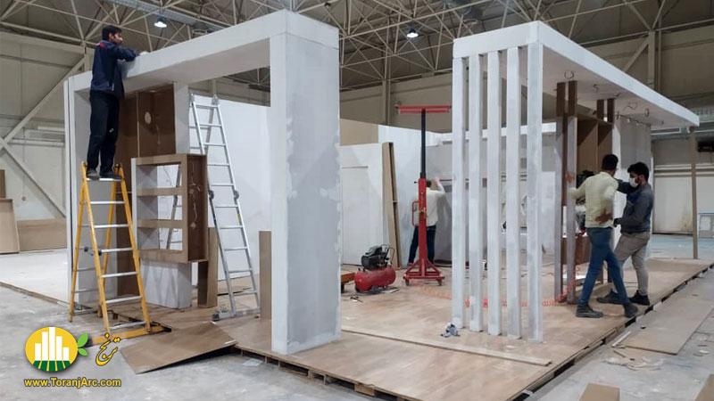 ساخت غرفه نمایشگاهی شرکت پادنا پلیمر