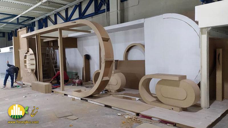 ساخت غرفه نمایشگاهی شرکت پرشین درب آسیا