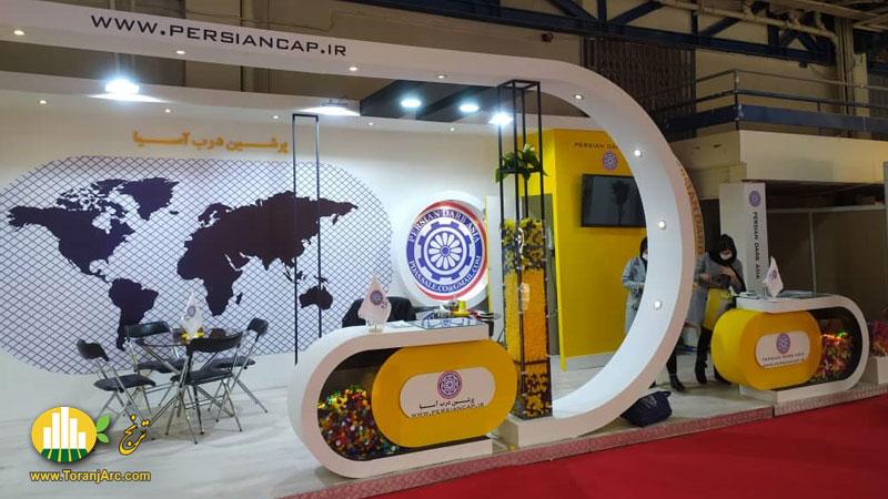 طراحی و ساخت غرفه نمایشگاهی شرکت پرشین درب آسیا